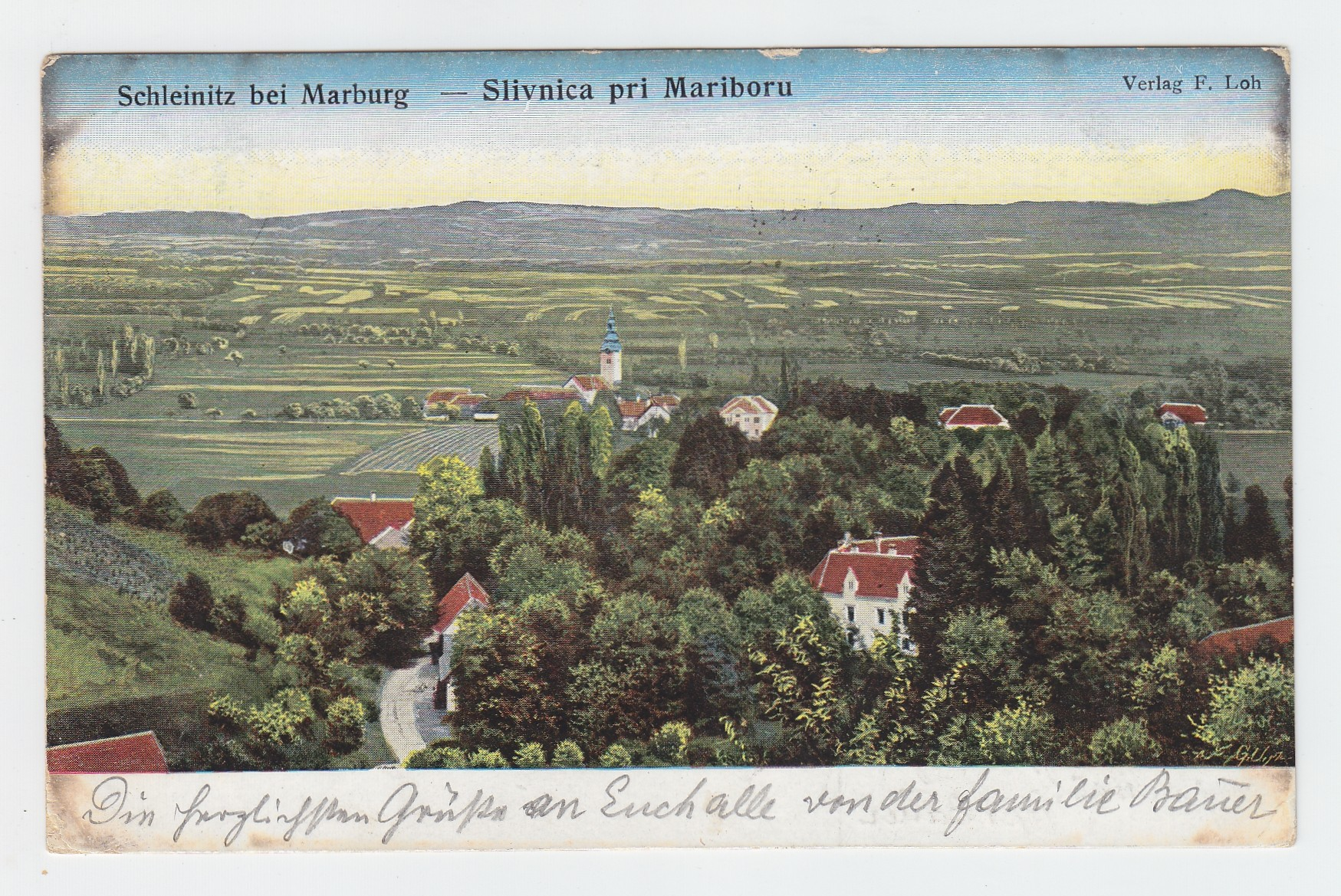 Schleinitz bei Marburg - Slivnica pri Mariboru.
