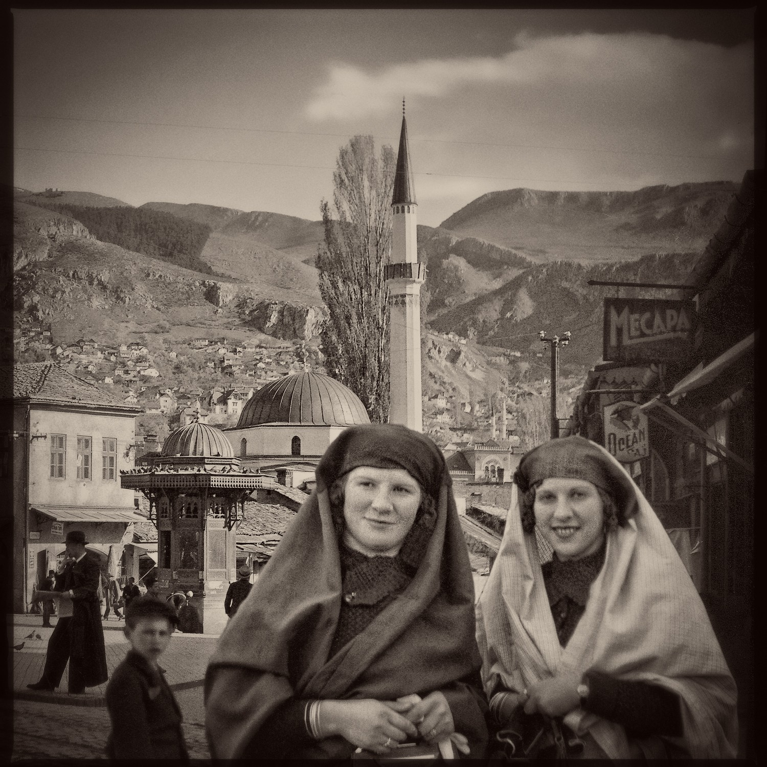 Two Bosniak ladies in Baščaršija