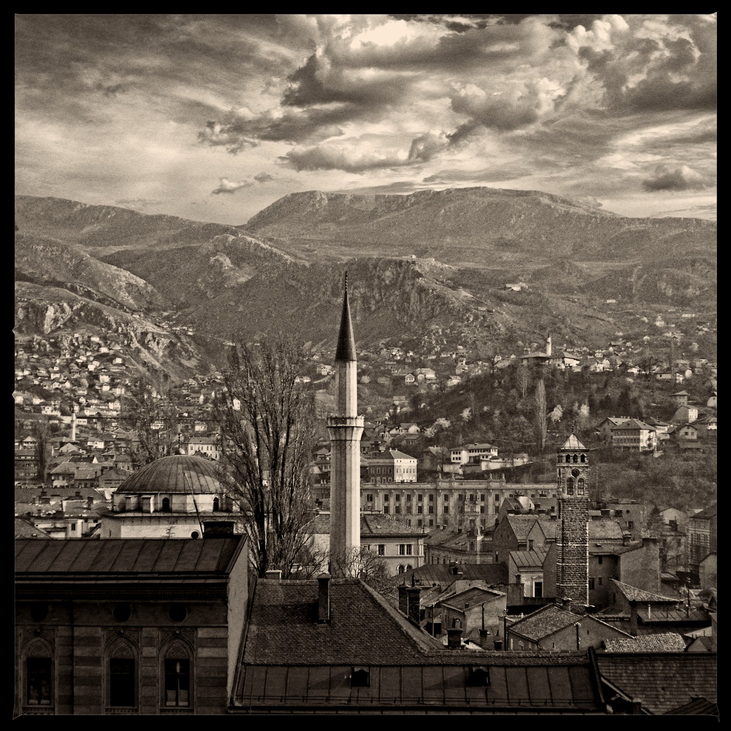 View of Sarajevo's old town from Logavina Ulica I