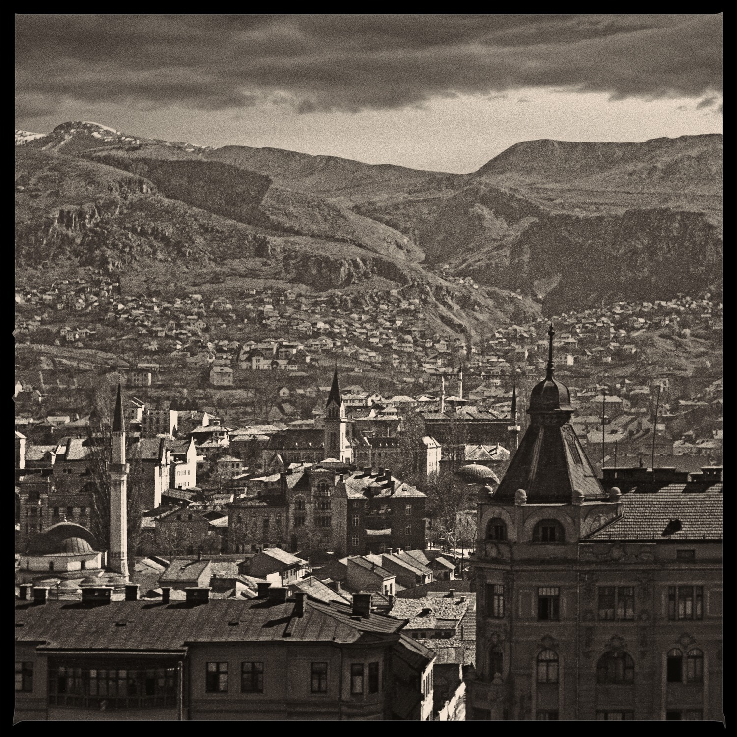 View of Sarajevo's old town from Logavina Ulica II
