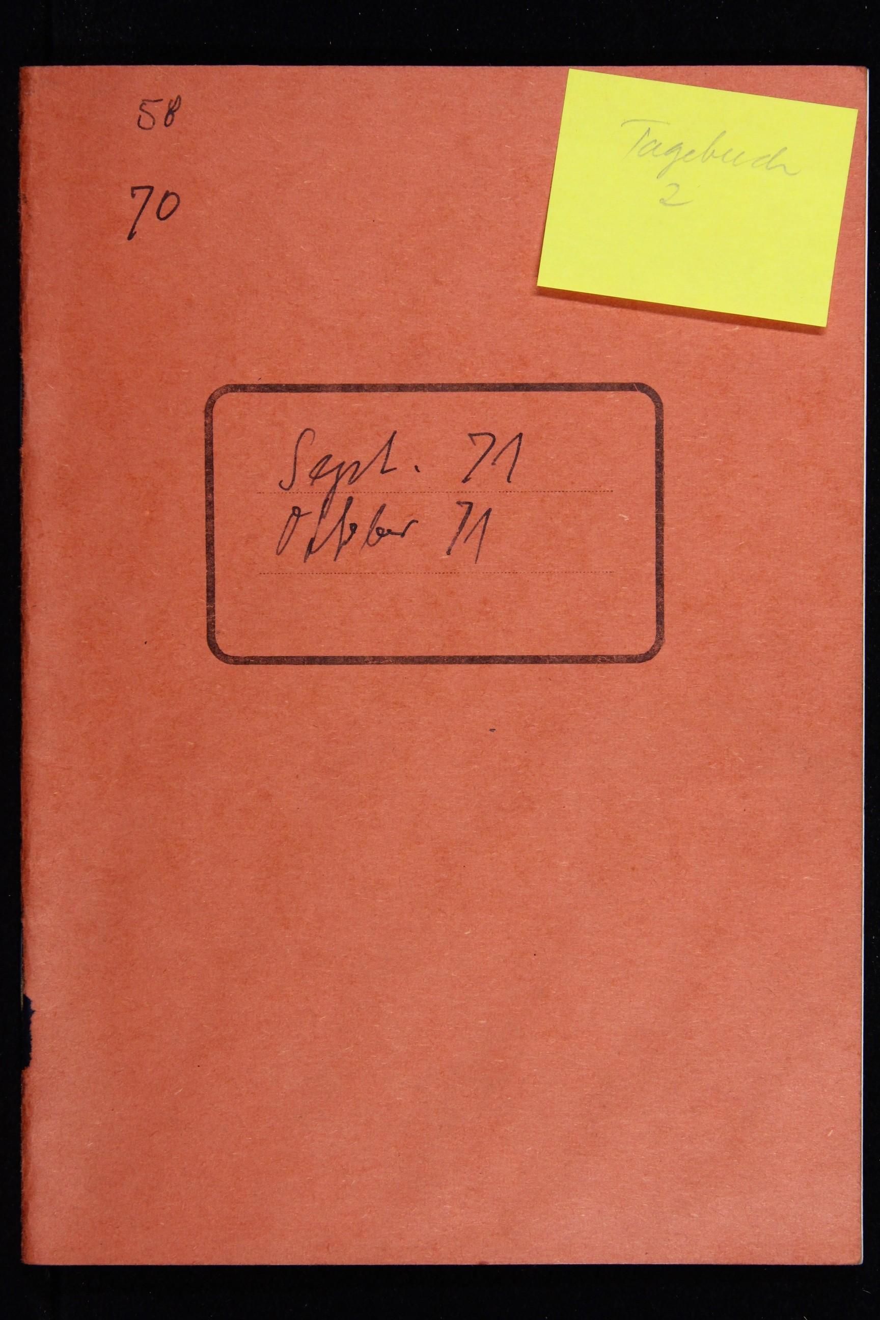 Notizbuch Hartmut Skerbisch (Inventarnr. 2) von Hartmut Skerbisch