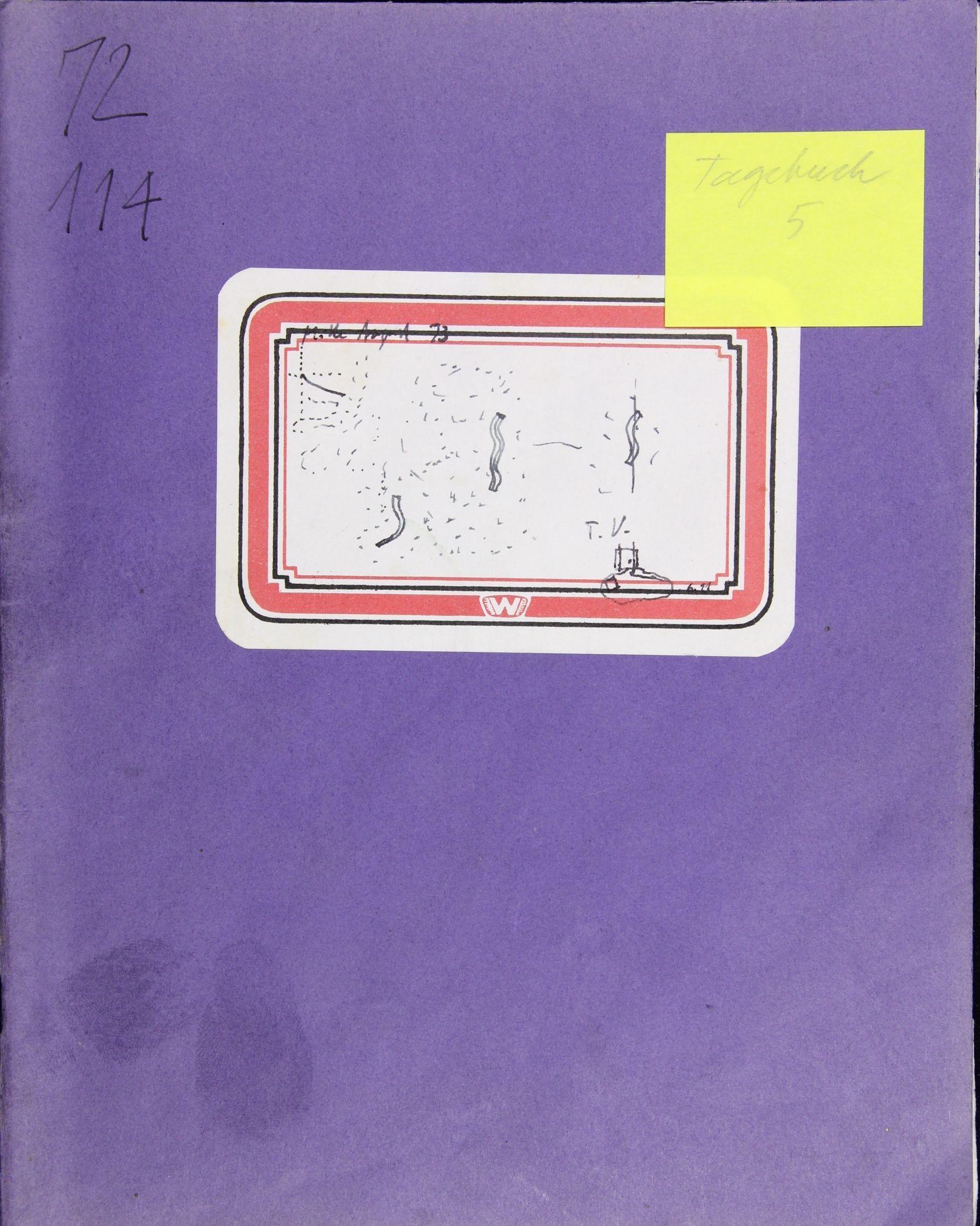 Notizbuch Hartmut Skerbisch (Inventarnr. 5) von Hartmut Skerbisch