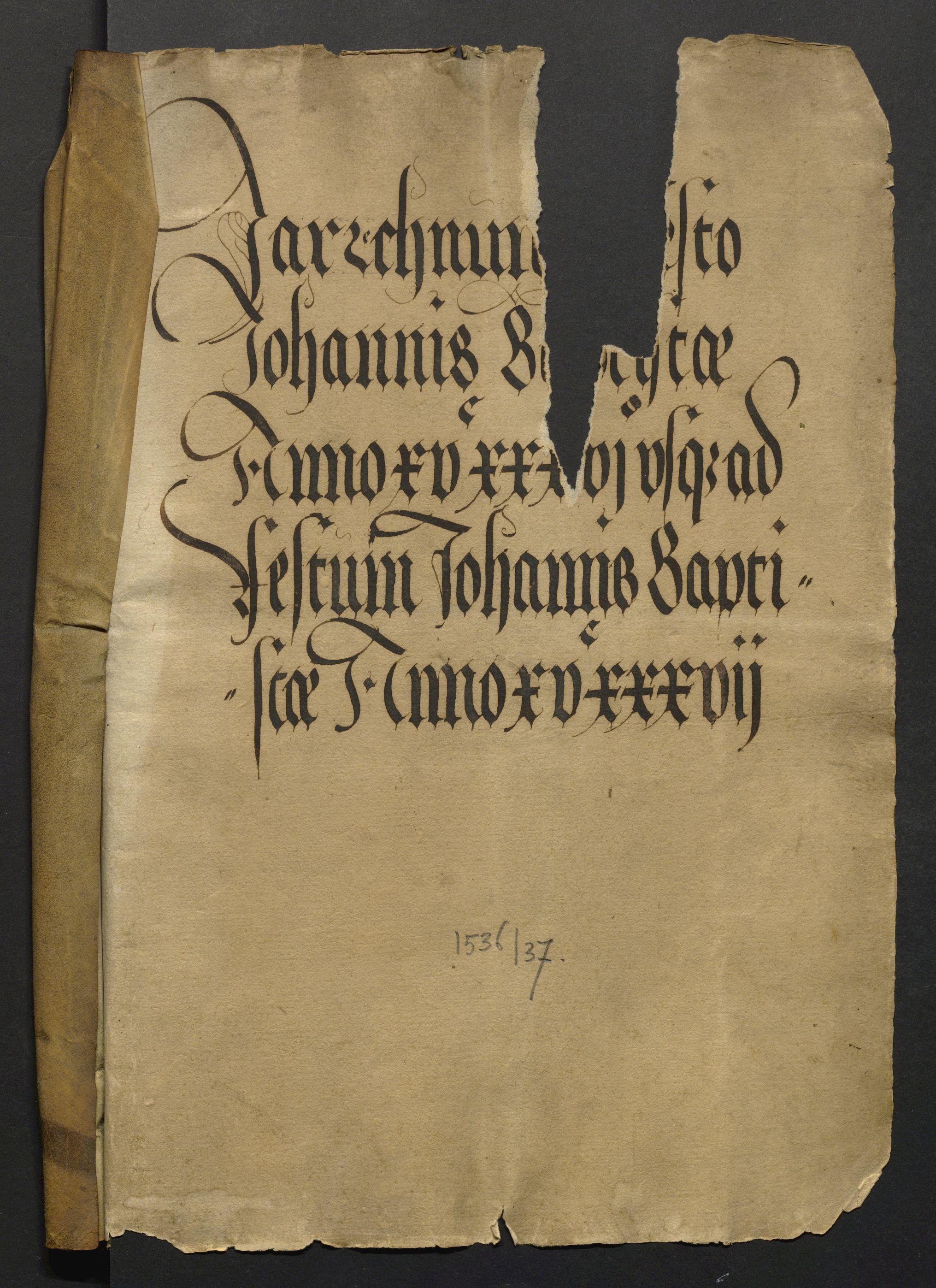 Jahrrechnung Stadt Basel 1536/1537