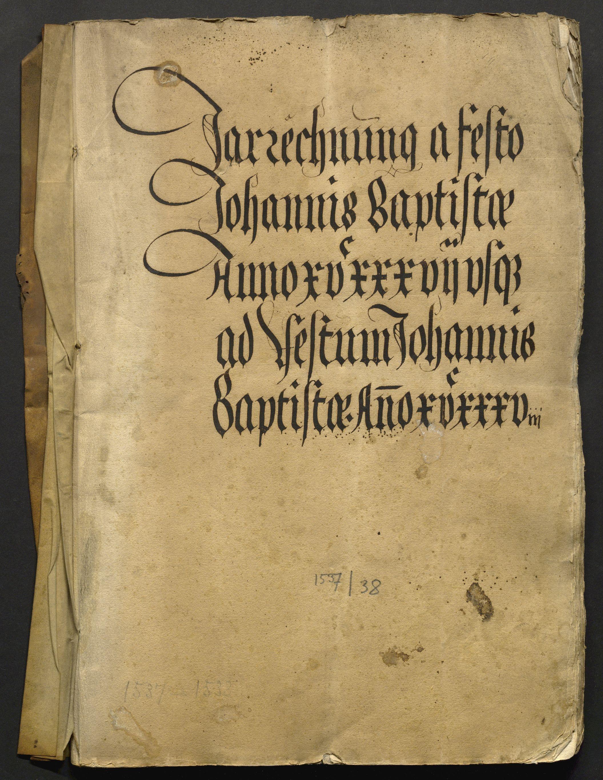 Jahrrechnung Stadt Basel 1537/1538