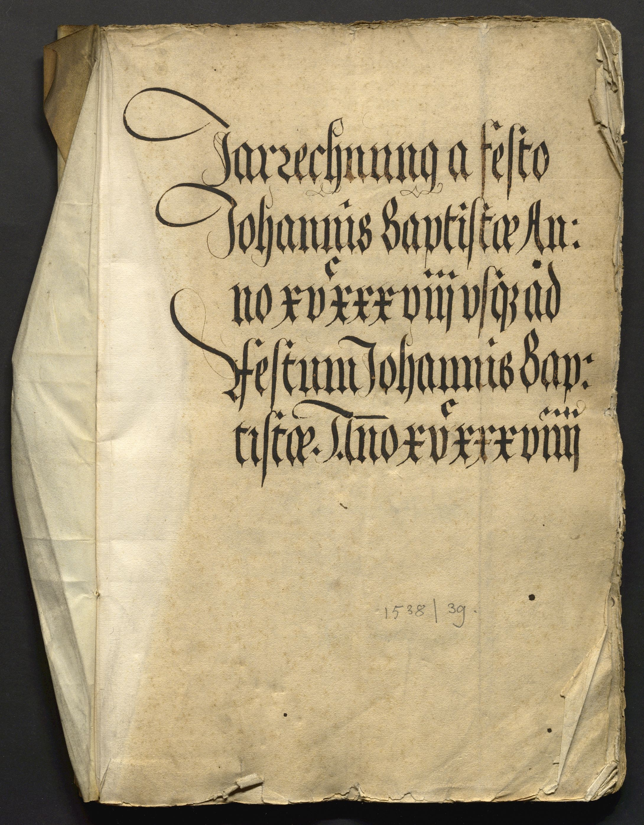 Jahrrechnung Stadt Basel 1538/1539