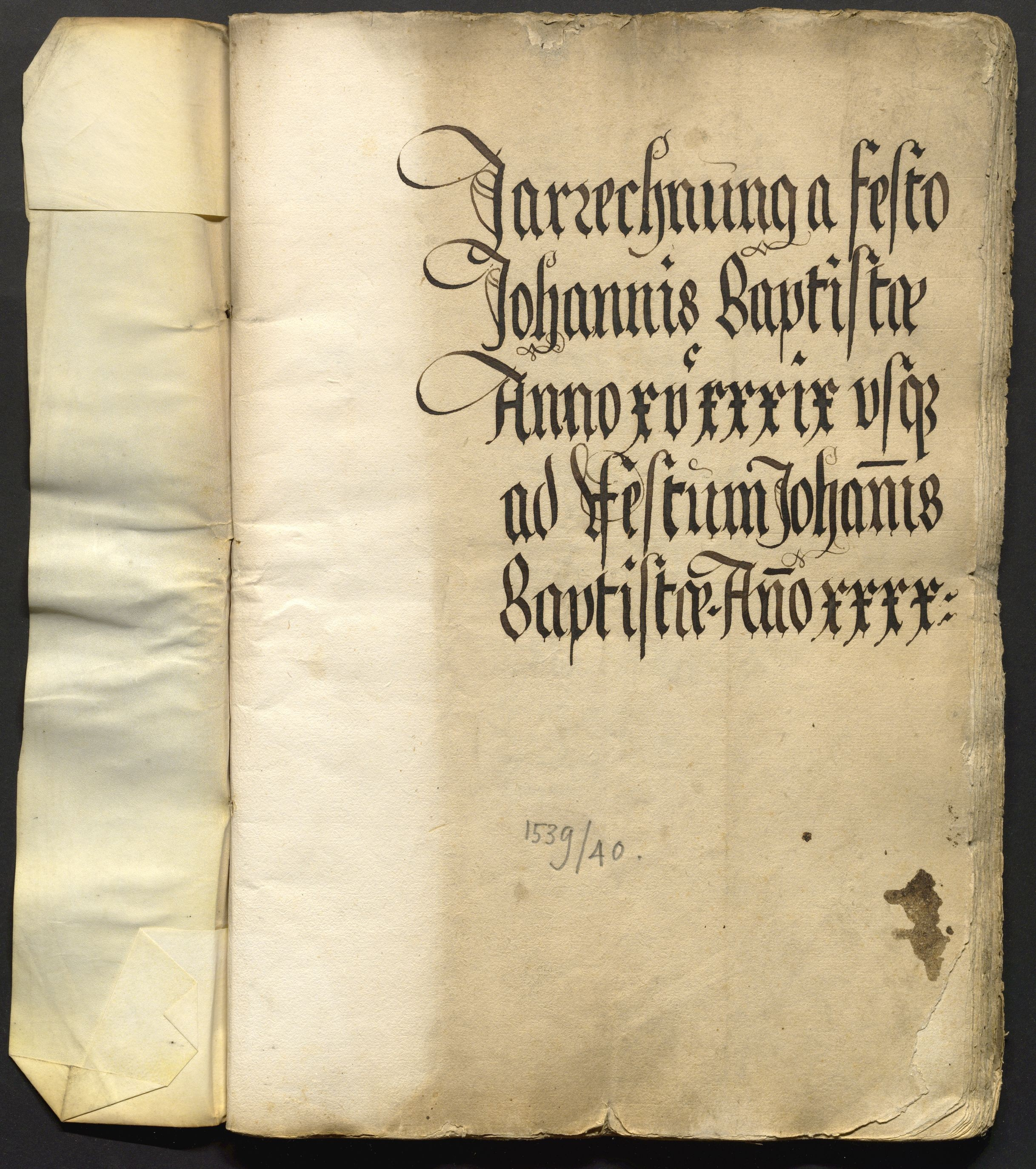 Jahrrechnung Stadt Basel 1539/1540