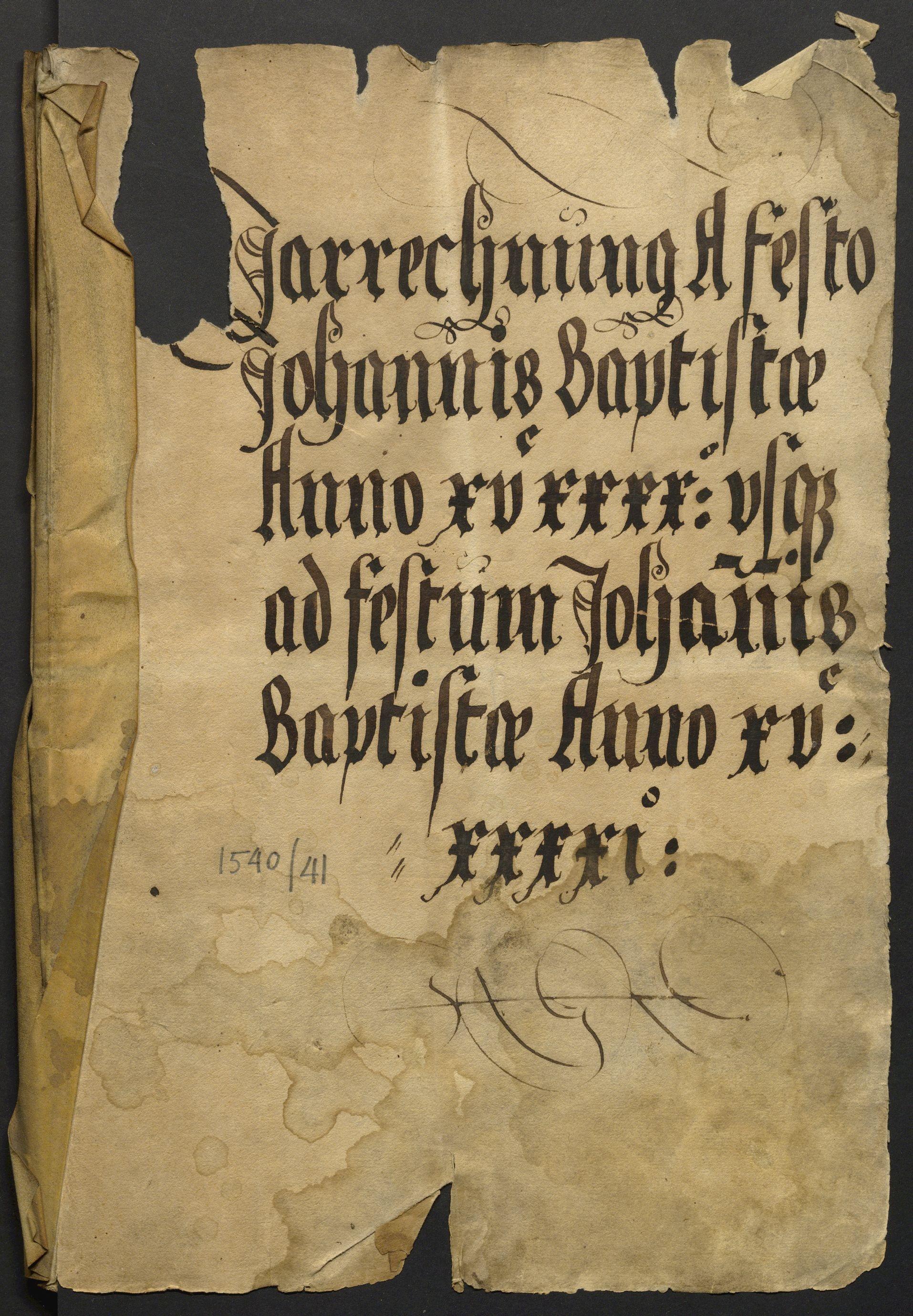 Jahrrechnung Stadt Basel 1540/1541