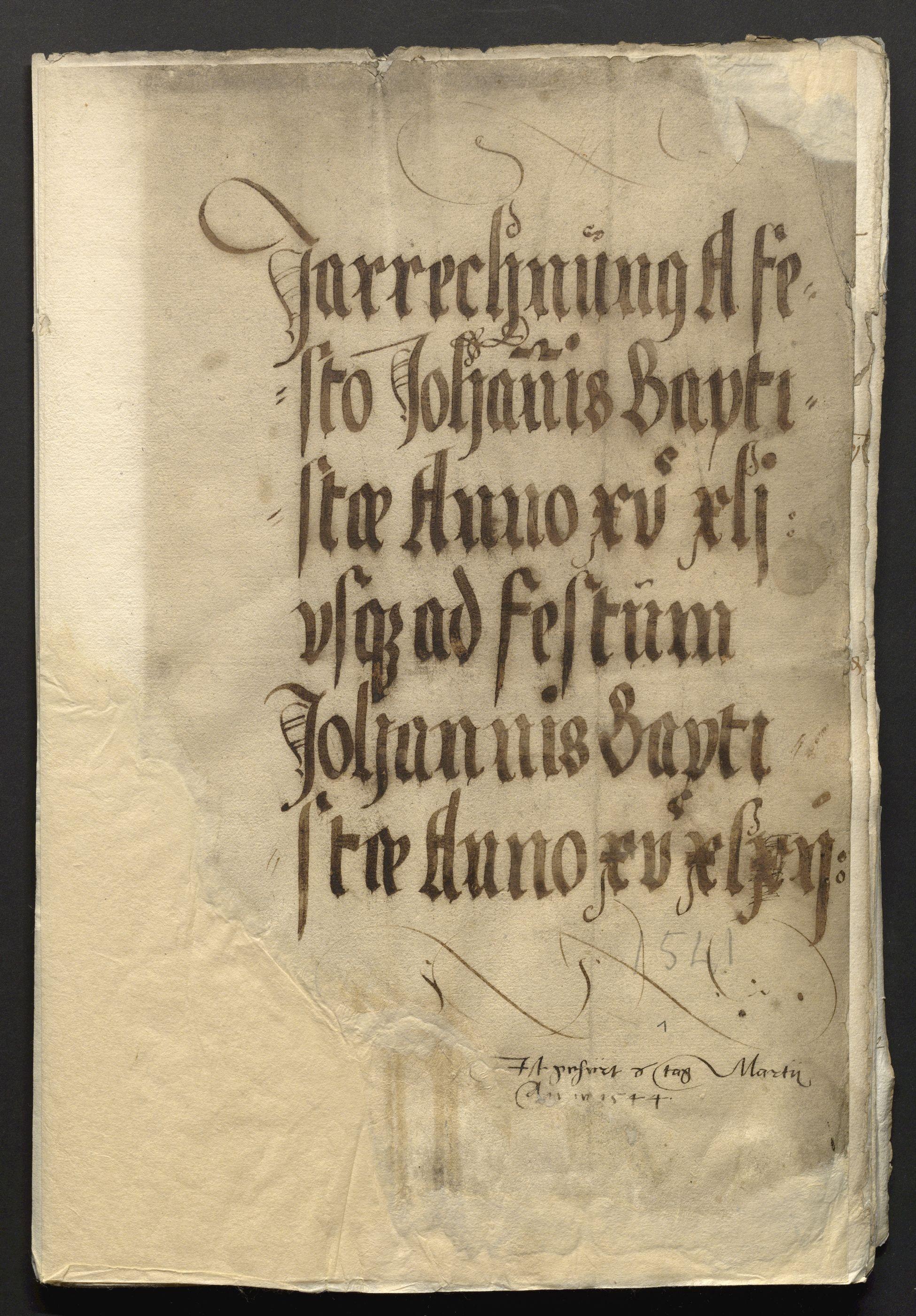 Jahrrechnung Stadt Basel 1541/1542