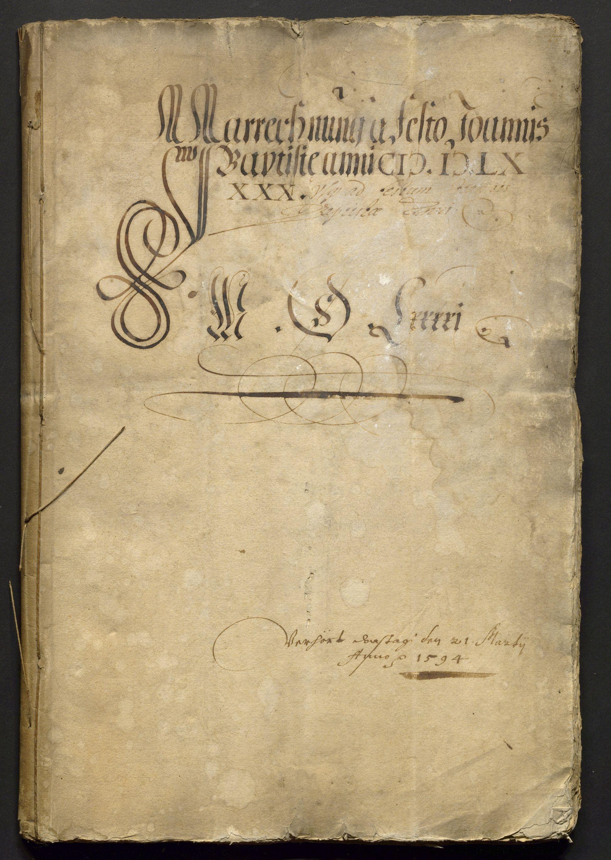Jahrrechnung Stadt Basel 1590/1591