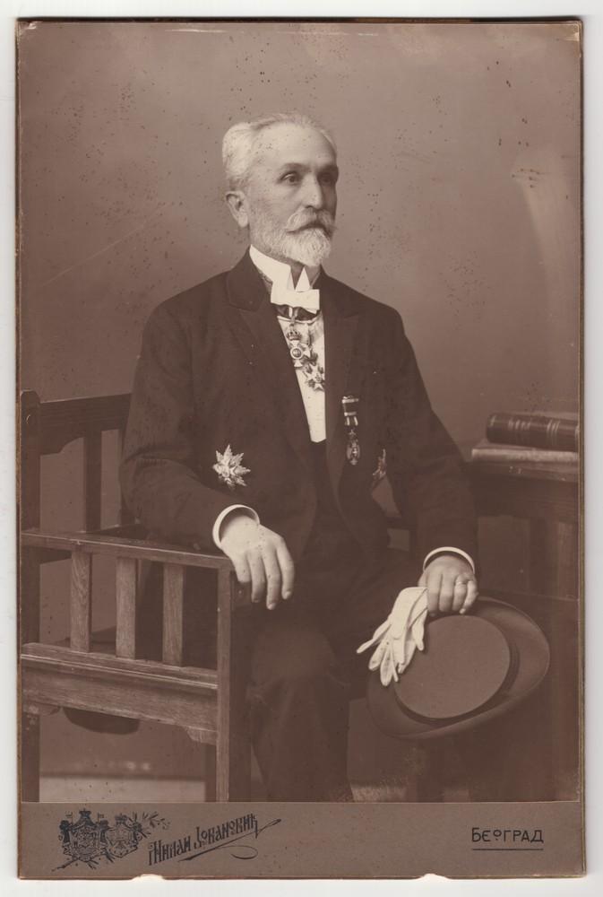 Studio portrait of Mihailo P. Jovanović